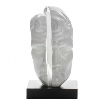 """Статуэтка """"Лицо мужчины"""" (цвет белый) E2821"""