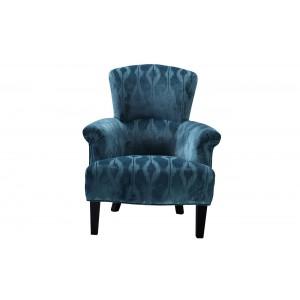 Кресло бирюзовое бархатное ZW-458