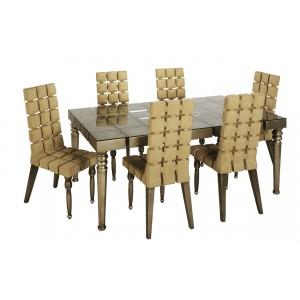 Дизайнерский обеденный стол ART-2876-DT6A
