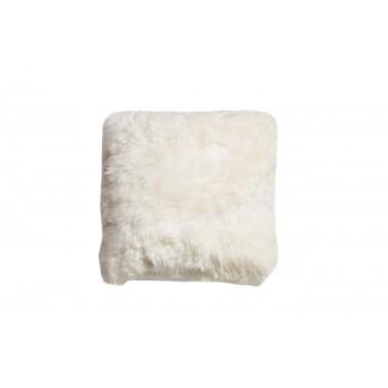 Подушка меховая белая односторонняя