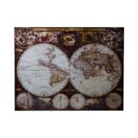 """Панно стеклянное """"Карта мира"""" KFE007H015"""