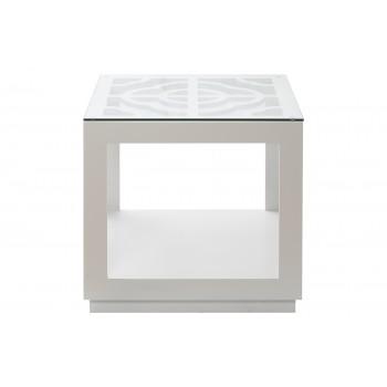 Стол журнальный белый квадратный LZ-120E