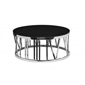 Столик из черного стекла круглый GY-CT7737
