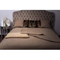 Покрывало на двуспальную кровать 240х260 кофейное Natalie 16AMR-NATALIE PK2.COF