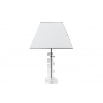 Лампа настольная хрустальная с белым плафоном XL2250WH