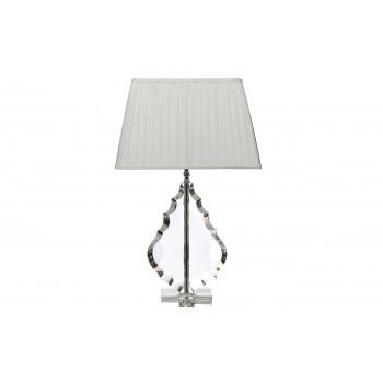 Лампа настольная хрустальная с белым плафоном XL5800WH