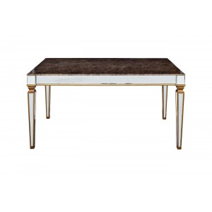Обеденный стол с зеркальными вставками (мраморная столешница) KFC1152E7A