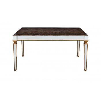 Обеденный стол с зеркальными вставками (мраморная столешница) KFC1152E7B