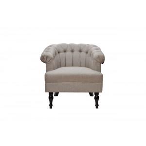 Кресло с низкой спинкой серое HD2109782-12945-3
