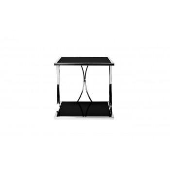 Столик из черного стекла квадратный 13RXET6048-SILVER