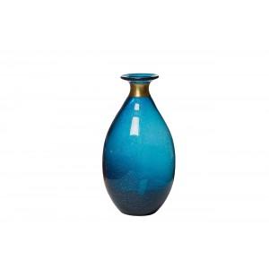 Ваза стеклянная синяя KL1630-Q