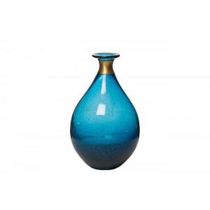 Ваза стеклянная синяя KL1625-Q