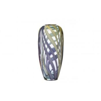 Ваза стеклянная фиолетовая HJ6037-30-O80