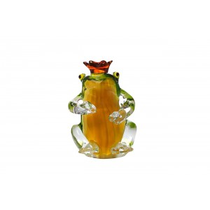 """Статуэтка """"Лягушка-королева"""" (желто-зеленая) F6702"""