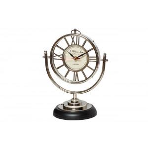 Часы настольные круглые на подставке IK50201