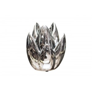 Подсвечник керамический серебристый 10K8152A