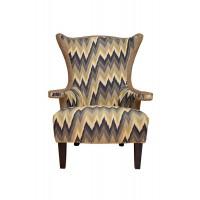 """Кресло """"Шале"""" серое с цветной обивкой ZW-2173-SH2212B-5"""