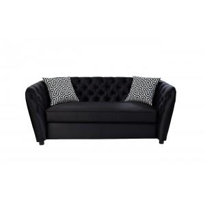 Диван двухместный черный (с подушками) ZW-52802