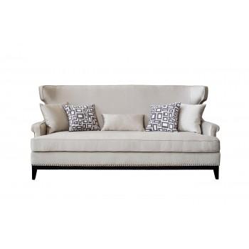 Диван трехместный бежевый (с подушками) ZW-63603