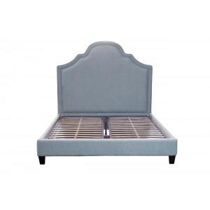 Кровать двуспальная с мягким изголовьем (бирюзовая) DY-1201