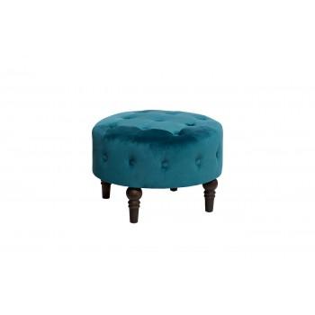 Банкетка велюровая сине-зеленая HD0003370KD-BBD
