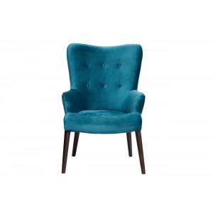 Кресло велюровое сине-зеленое HD2203282KD-BBD