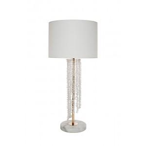 Лампа настольная с кристаллами (белый плафон) K2KR0700T-1