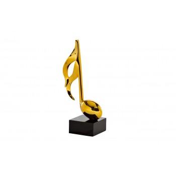 """Статуэтка """"Музыкальная нота"""" золотая D1733-1"""