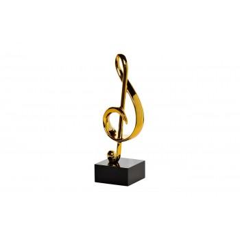 """Статуэтка """"Скрипичный ключ"""" золотая D1733-2"""