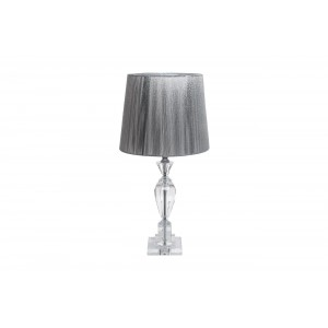 Лампа настольная хрустальная (серебряный плафон) X181617