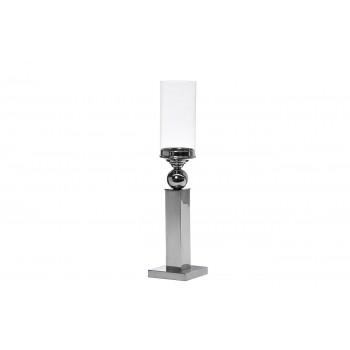 Подсвечник стеклянный на металлической ножке 2K230185