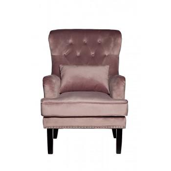 Кресло велюровое дымчато-розовое (с подушкой) 24YJ-7004-06418/1