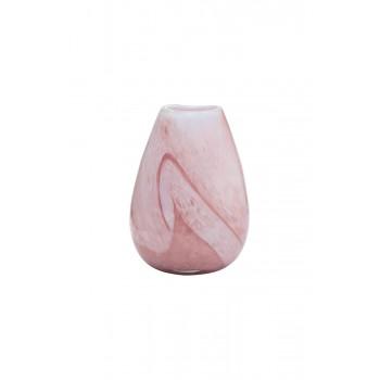 Ваза стеклянная розовая HJ1730-27-Q82