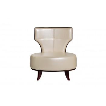 Кресло бежевое из экокожи 31PL28AR