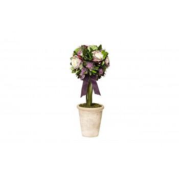 Розы стабилизированные в горшке 34JN-098