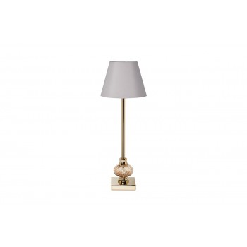 Лампа настольная золотая (светло-серый абажур) 22-87898