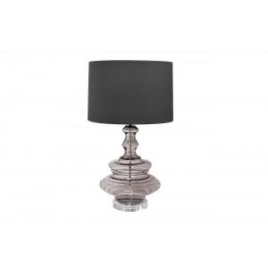 Лампа настольная из дымчатого стекла (темно-серый абажур) 22-87861