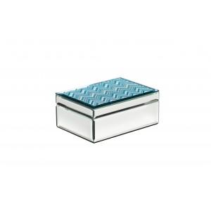 Шкатулка стеклянная голубая 19-ОА-450-BM