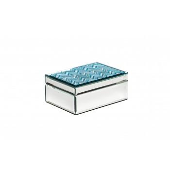 Шкатулка стеклянная голубая 19-OA-450-BM