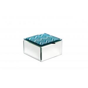 Шкатулка стеклянная голубая 19-OA-450-BS