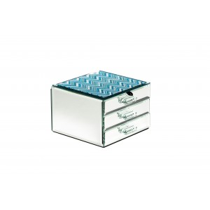Шкатулка для украшений голубая 19-ОА-450-JB