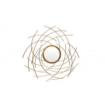 Зеркало металлическое золотое 19-OA-6046
