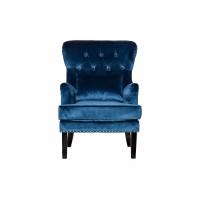 Кресло велюровое синее (с подушкой) 24YJ-7004-06466/1