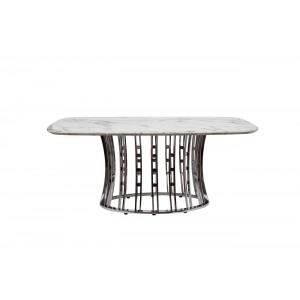 Стол обеденный светло-серый (натуральный камень) 45EX-DT122