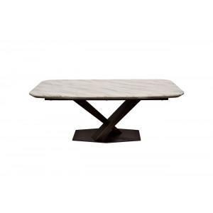 Стол кофейный светло-бежевый (натуральный камень) 45EX-CT136