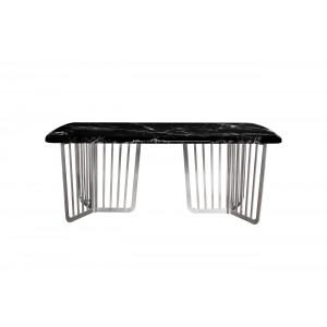 Стол обеденный черный (искусственный мрамор) 33FS-DT1800-BS