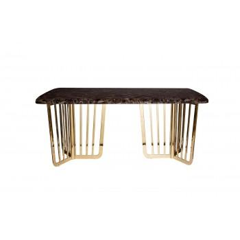 Стол обеденный коричневый (искусственный мрамор) 33FS-DT1800-PG