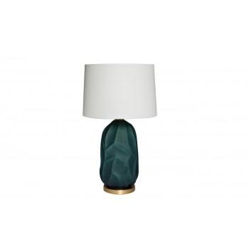 Лампа настольная керамическая синяя (белый плафон) 22-87945
