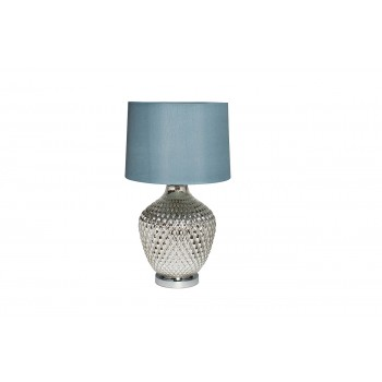 Лампа настольная стеклянная (серый плафон) 22-88017