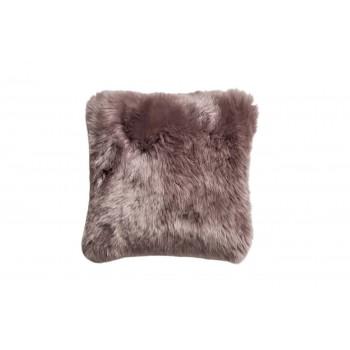 Подушка меховая серая двухсторонняя